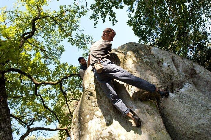 escalade forêt de Fontainebleau