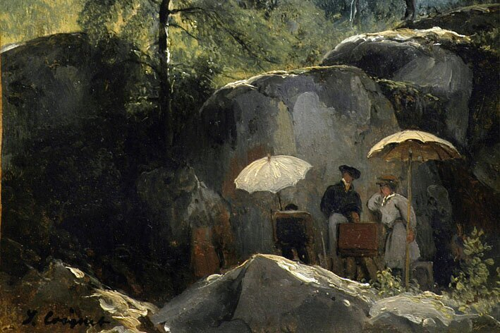 peinture Barbizon Fontainebleau Tourisme