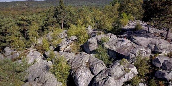 Un chaos rocheux en forêt de Fontainebleau