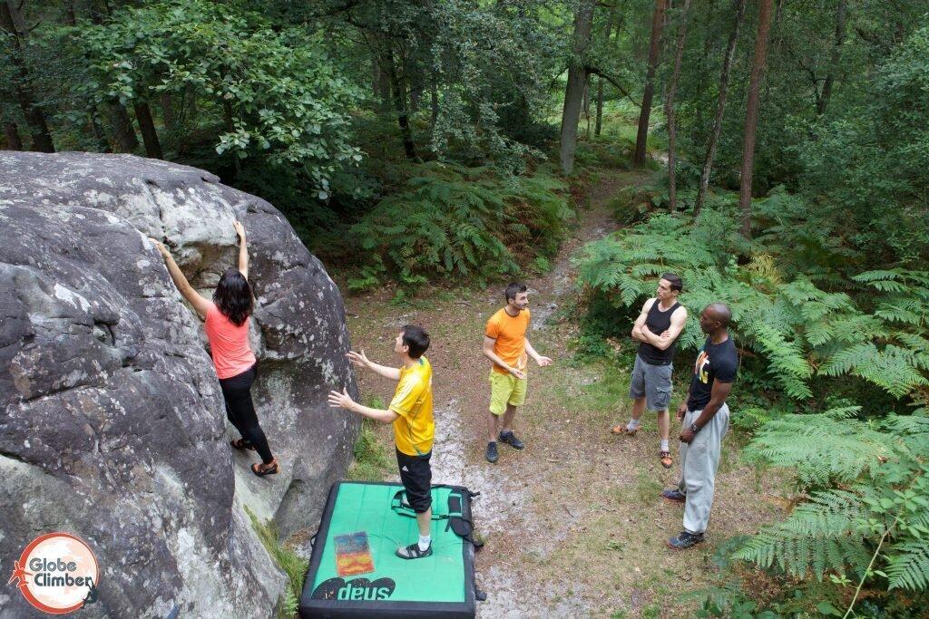 escalade Fontainebleau Globe Climber