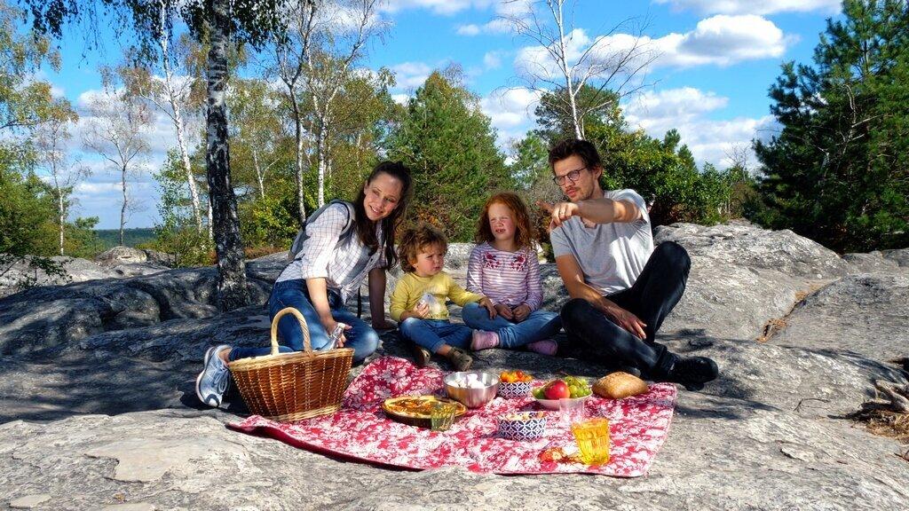 famille forêt de Fontainebleau